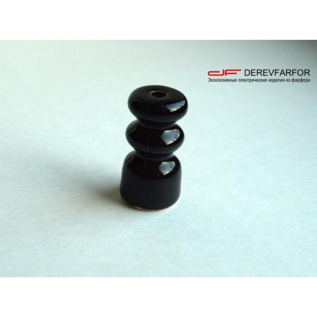 Изолятор керамический двойной черный