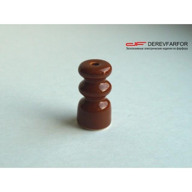 Изолятор керамический двойной коричневый